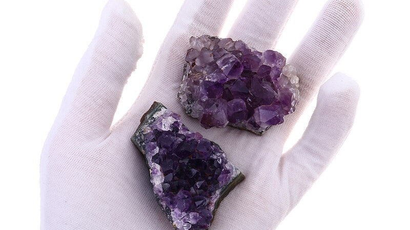 Natural Dream Amethyst Quartz Crystals Cluster