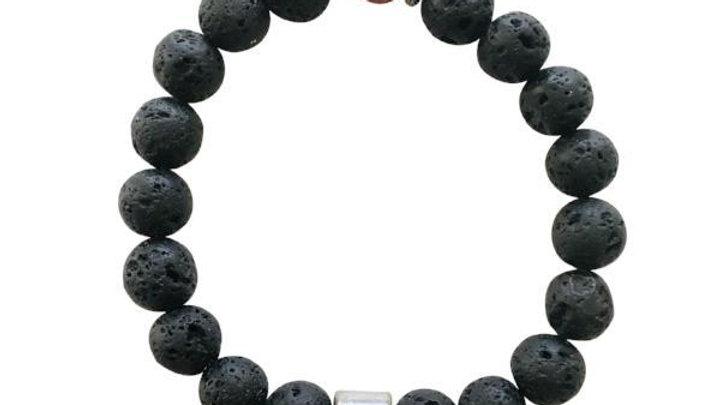 Men's Lava Bracelet (essential Oil)   Victory Line