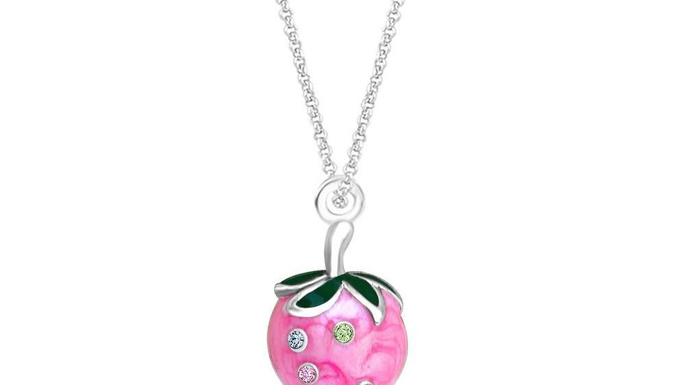 Crystal Pink Strawberry Pendent