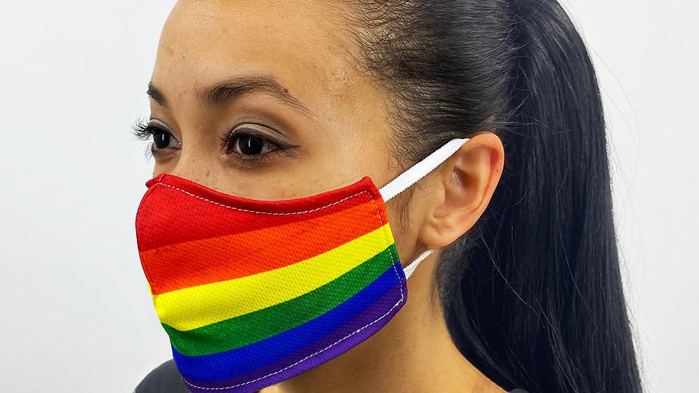 Gay Pride Flag Face Cover