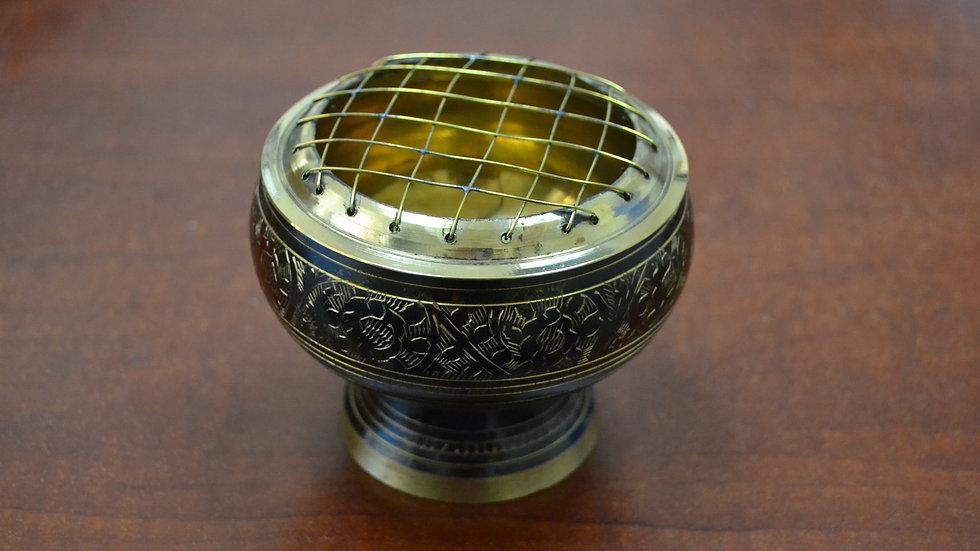 Handmade Brass Incense Burner Charcoal Lamp