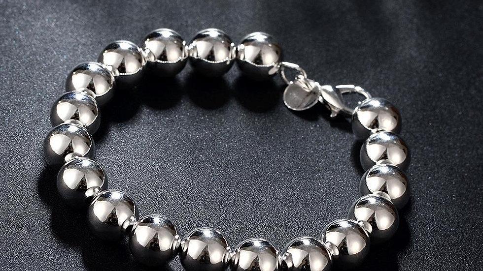 Shiny Ball Bracelet in 18K White Gold Plated