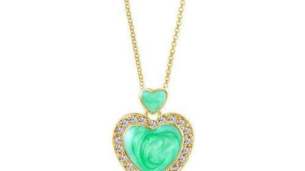 Crystal Enamel Heart Pendent