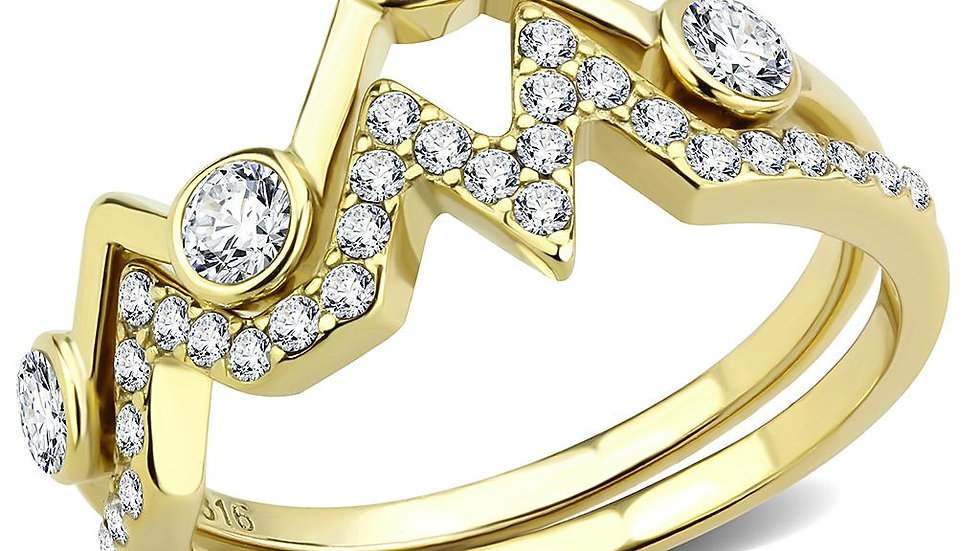 TK3596 IP Gold(Ion Plating) Stainless Steel Ring