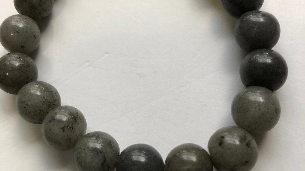 Grey Agate beads stretch bracelet