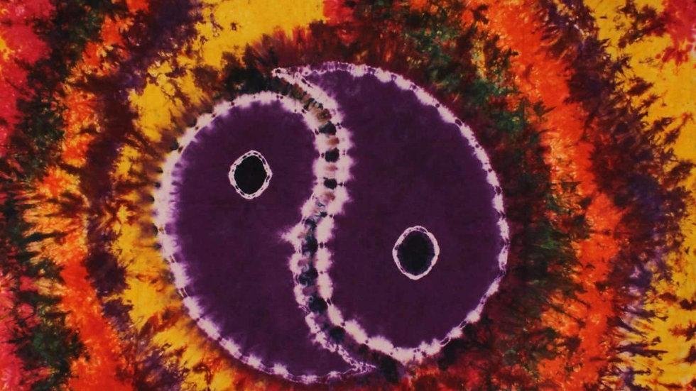 Yin Yang Tie Dye Tapestry