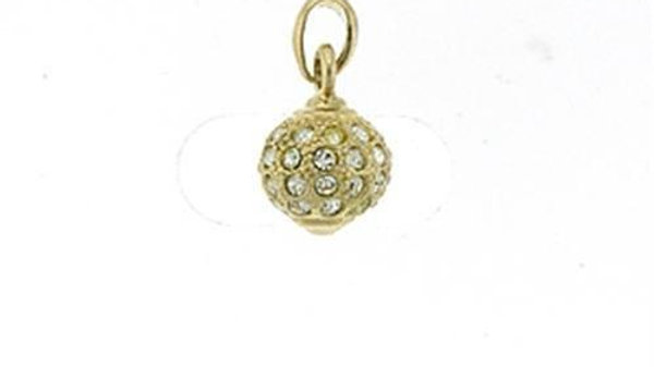 LOA391 Gold Brass Pendant with Top Grade Crystal