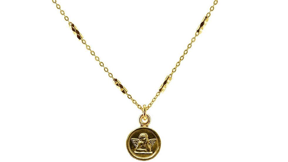 Guardian Angel Saint Medallion Necklace