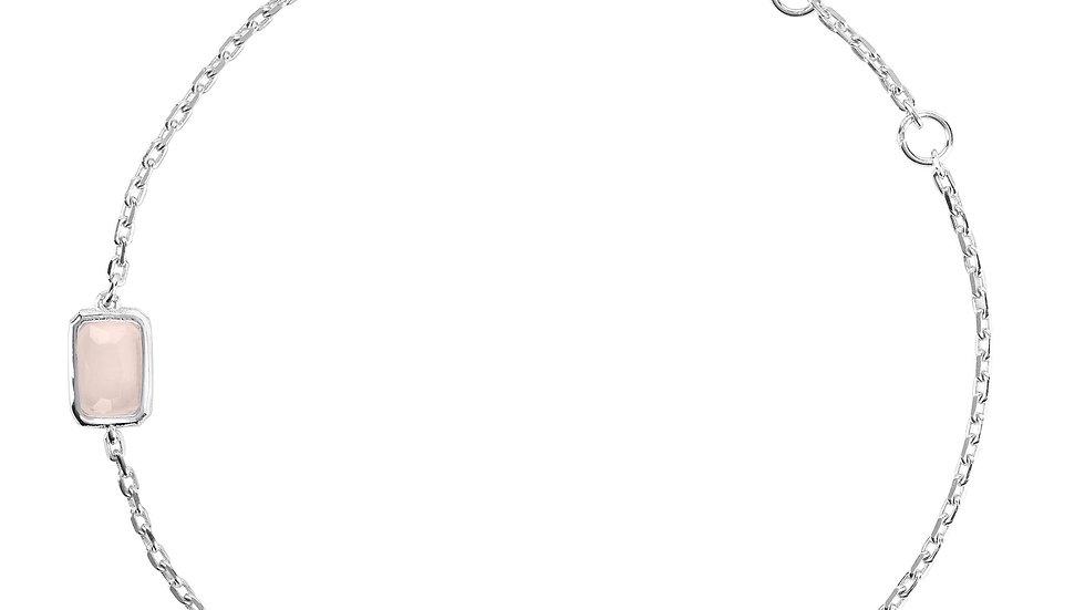 Venice Bracelet Silver Rose Quartz