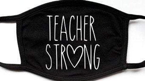 Teacher Strong | Fashion Funny Black Face Mask