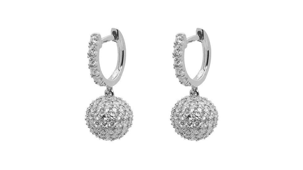 Swarovski Crystal Ball Earrings