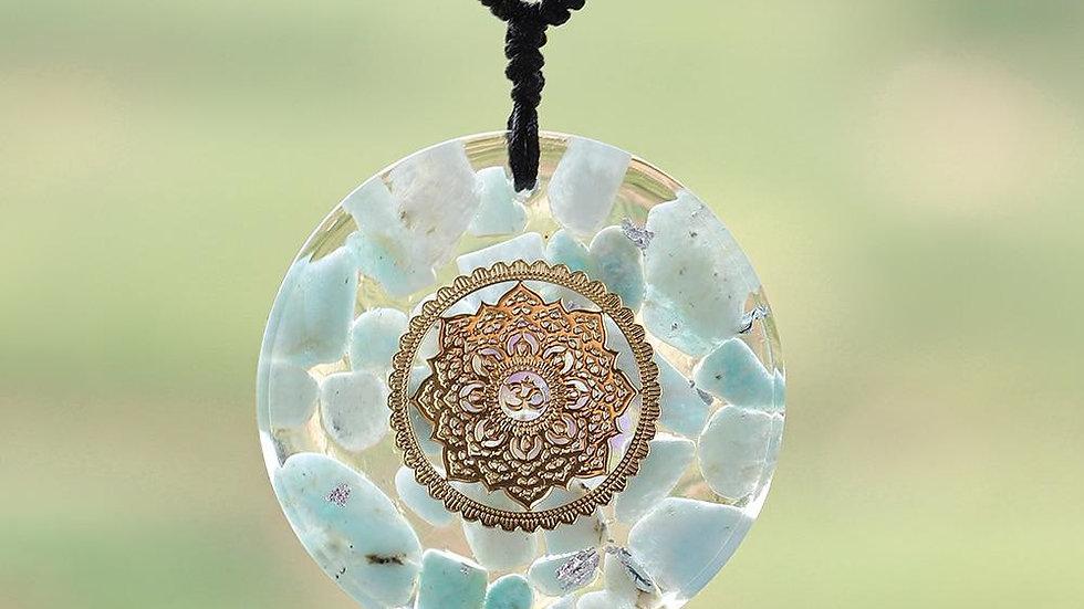Pendant Energy Amazonite Reiki Necklace Yoga Healing  Jewelry For