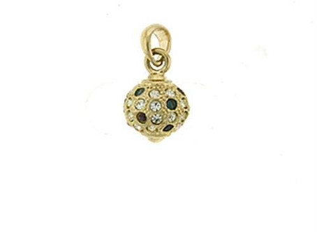 Gold Brass Pendant with Top Grade Crystal