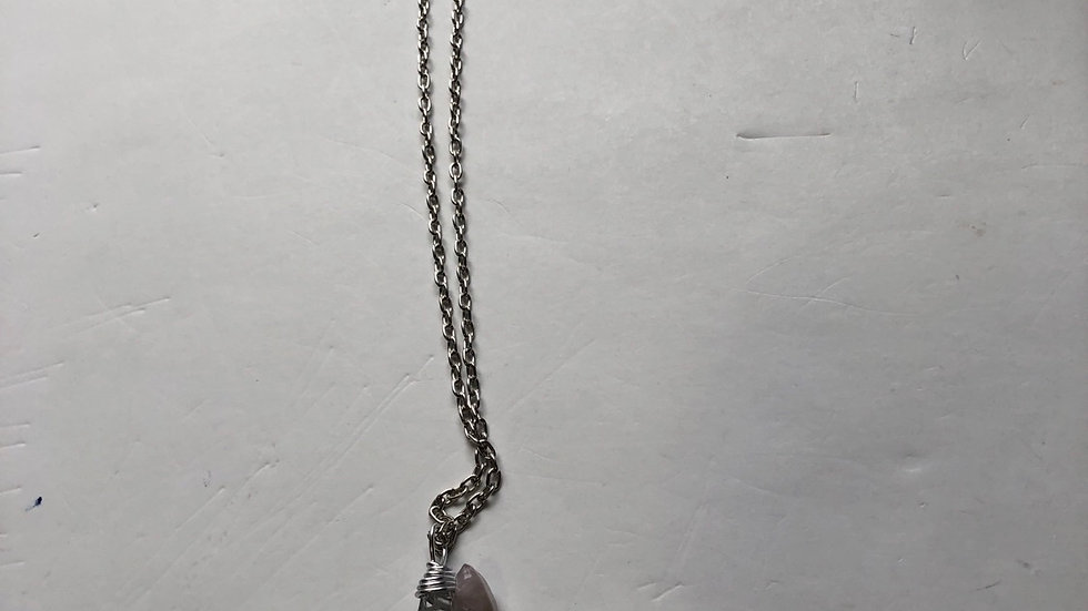 Chackra balancing clear quartz necklace