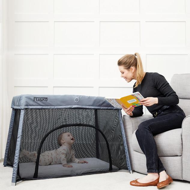 Flisko Lifestyle 2-IN-1 Travel Crib + Basinet