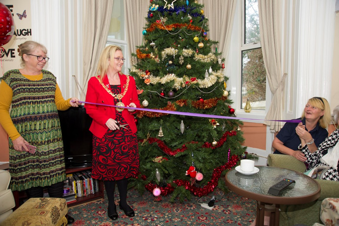 """Mayor switches on the Xmas lights at Sunnydale and launches """"Don't be lonely at Christmas&q"""