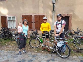 Tandemausfahrt mit der Fahrradgruppe des Blindenverband des SFZ Chemnitz