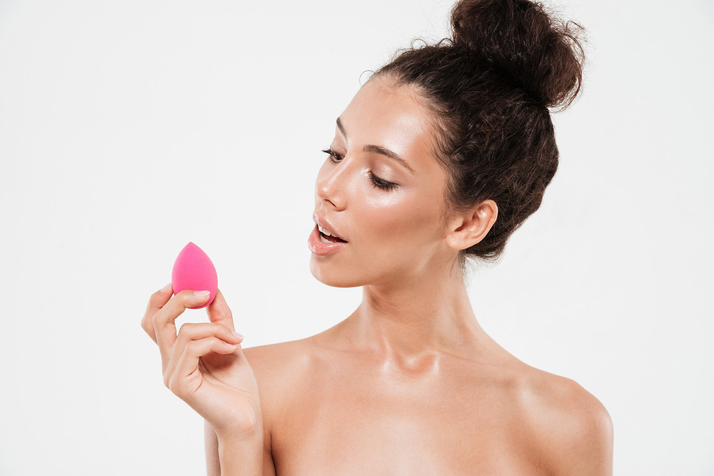 Woman discovering her first Beauty Sponge