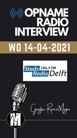 RADIO INTERVIEW STADSRADIO DELFT | 14-04-2021