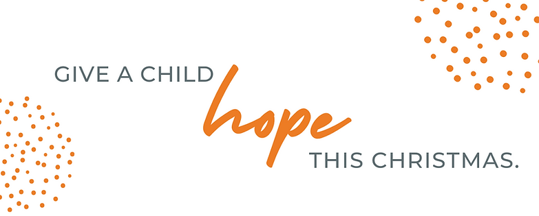 Give a Child Hope this Christmas Header.