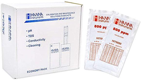 SOLUCION ESTANDAR DE CALIBRACION DE TDS DE 800 MG/L (PPM) , 25 pzas. De 20 ml