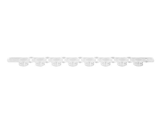 TAPAS PARA TUBOS DE PCR DE 0.2 ML EN TIRAS DE 8, PAQUETE CON 125 TIRAS