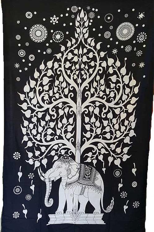 Elephant Tree tapestry