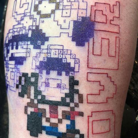 Mario Game Over Tattoo