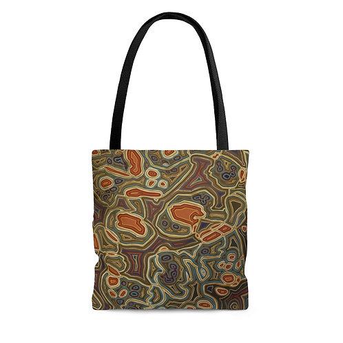 Brown AOP Tote Bag