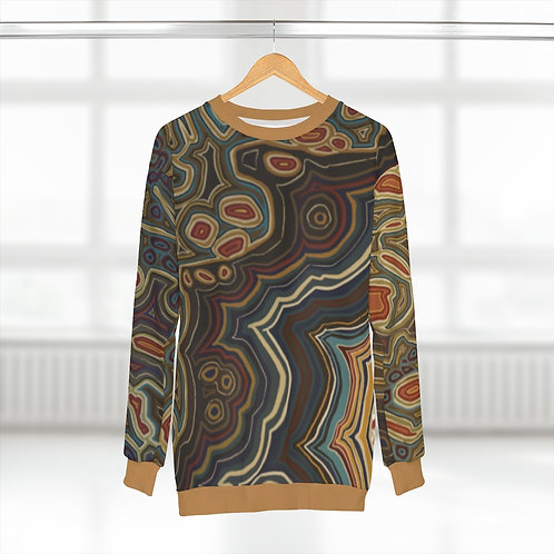 Brown AOP Unisex Sweatshirt