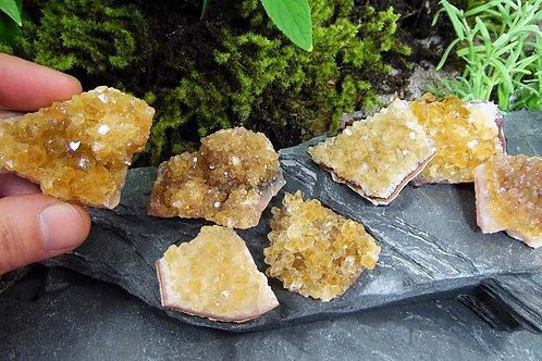 Small citrine cluster