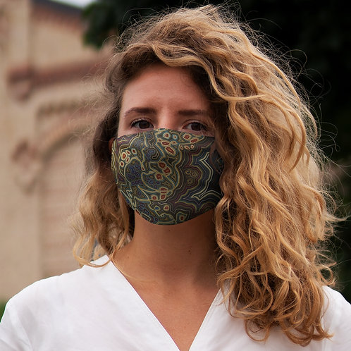 Brown Snug-Fit Polyester Face Mask