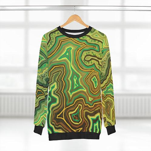 Green AOP Unisex Sweatshirt