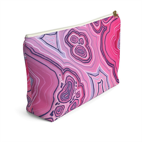 Pink Accessory Pouch w T-bottom
