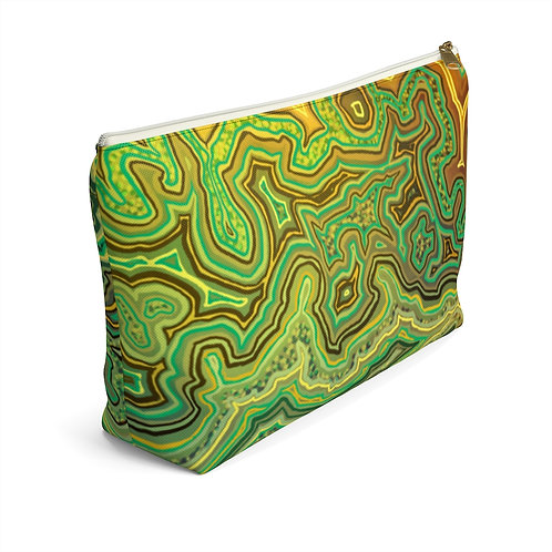 Green Accessory Pouch w T-bottom
