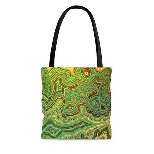 Green Agate AOP Tote Bag