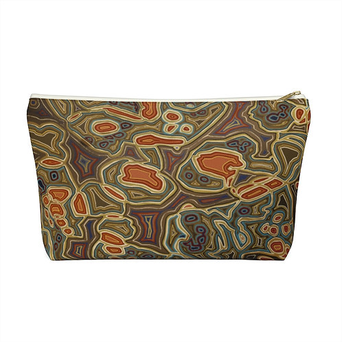 Brown Accessory Pouch w T-bottom