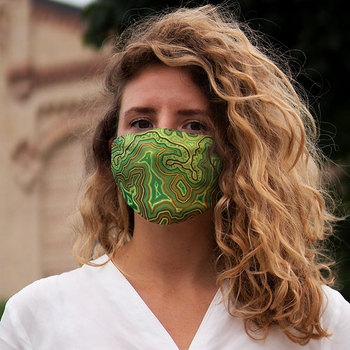 Green Snug-Fit Polyester Face Mask