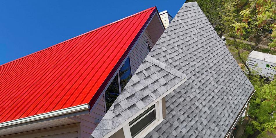 Metal roofing and asphalt roofing in Saskatoon, Saskatchewan.