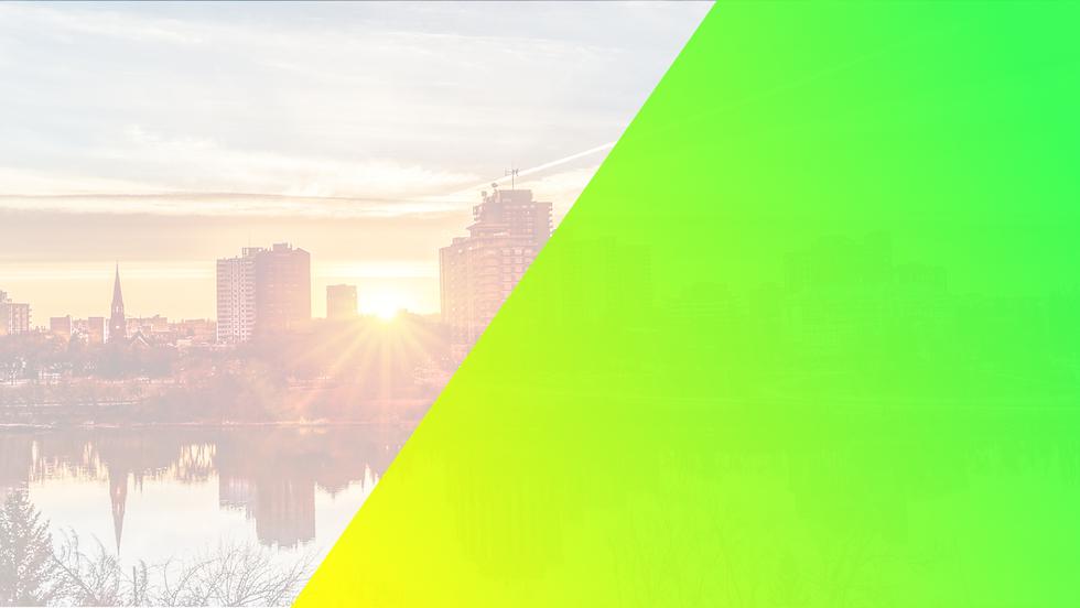 Morning sunset over the city of Saskatoon
