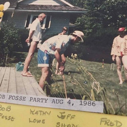 Playing croquet with Bob Fosse