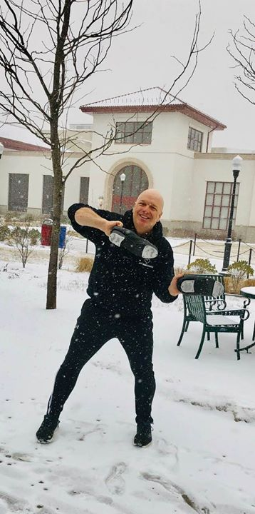 even on a SNOW DAY - - I dance!