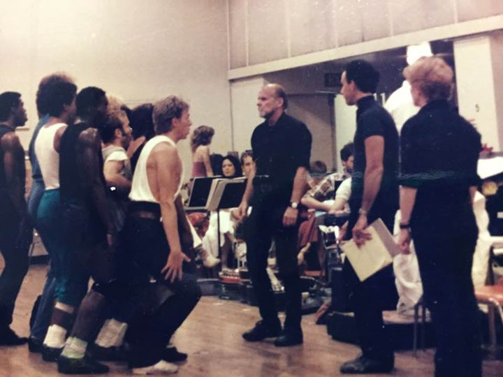 Rehearsing with BOB FOSSE