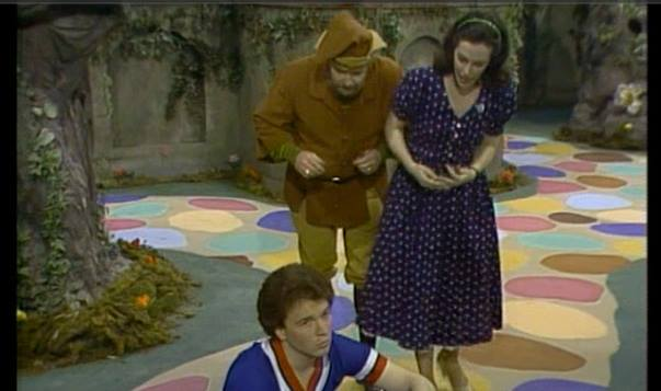 "My Monday episode on Mister Rogers' Neighborhood - - ""looking for Friday!"" - - oh and I twirled the"