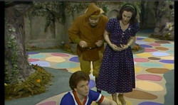 """My Monday episode on Mister Rogers' Neighborhood - - """"looking for Friday!"""" - - oh and I twirled the"""