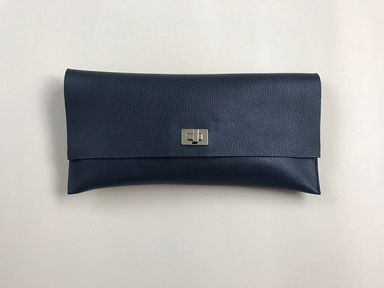 Rosie Navy Grain Leather