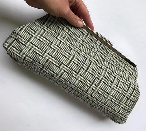 MiMi Dogtooth Fabric Clutch