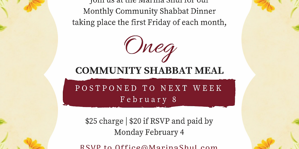 Oneg Shabbat February 2019