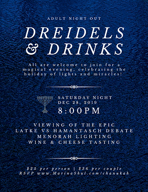 Dreidels & Drinks