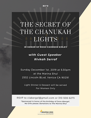 The Secret of The Chanukah Lights